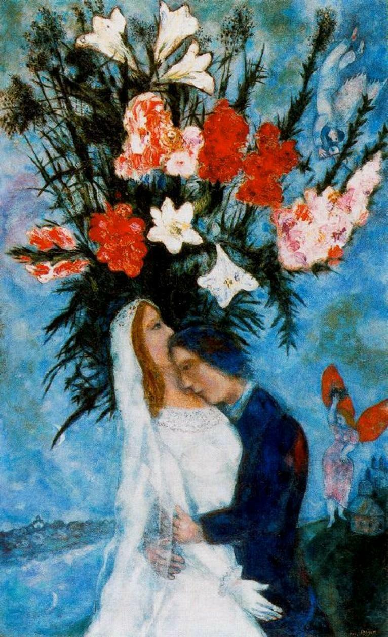 Marc Chagall - The Bridal Couple - 1927-1935