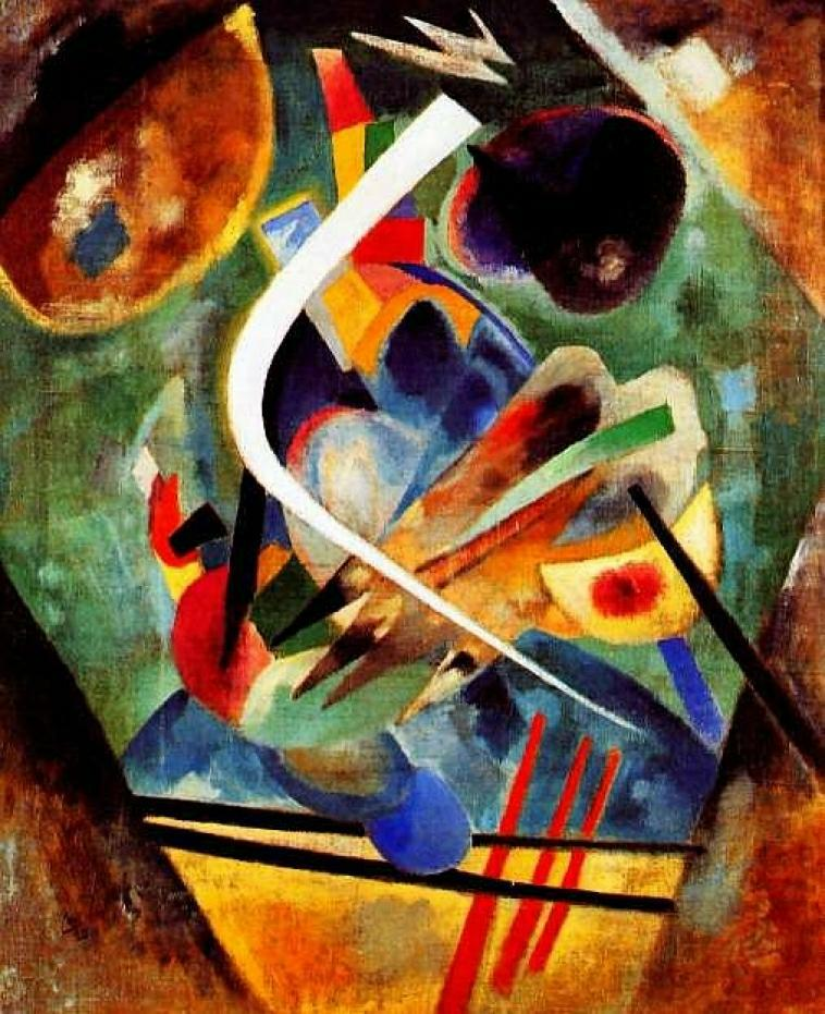 Famous Abstract Line Art : Wassily kandinsky black and violet